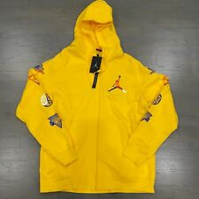 Nike Air Jordan Rivals Full Zip Hoodie CJ6155 728 Yellow Multicolor Men's New