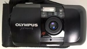 Olympus mju 1 Film Camera Compact 35mm Point And Shoot Black Working #350
