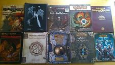 Dungeons + Dragons - 9 Books - Role Playing - Magic - RPG Forgotten Realms Rare