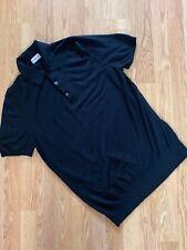 Men's 100% Genuine Moncler Maglia Tricot Black Knit Wool Polo Shirt,size L