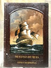 Vintage Wood Faux Book The Old Man And The Sea Jewelry  Box