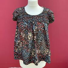 Forever 21 Multicoloured Floaty Ditsy Floral Top Layered Sleeves - Small