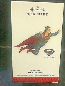2013 Hallmark Keepsake Ornament   Man Of Steel    SUPERMAN    NIB