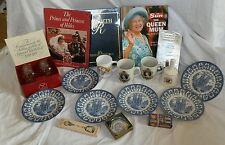 Job lot Coronation jubilee Charles Diana wedding memorabilia royal plates mugs