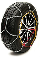 """Sumex Husky Winter Classic Alloy Steel Snow Chains for 17"""" Car Wheel Tyre's PAIR"""