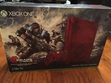 Xbox One S 2TB Console - Gears of War 4 Limited Edition Bundle (RED) Brand New