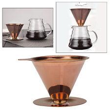 Gießen Sie über Kaffeekegel Tropftrichter Papierloses waschbares Sieb für das