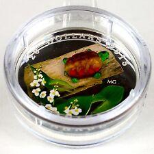 Canada 2015 $20 Venetian Glass Turtle by Broadleaf Arrowhead Flower 1 oz Silver