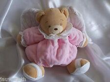 Doudou ours rose et blanc, ailes,  Kaloo