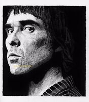 IAN BROWN THE STONE ROSES LIMITED EDITION OF 50 A4 SIZE ART PRINT ARTIST SIGNED