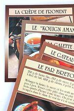 cartes postales recettes bretonnes crêpe galette far gateau kouign breton SERIE