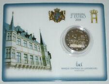 Luxemburg Coincard 2 Euro 150 Jahre Verfassung 2018 mit Pz. Brücke nur 7.500