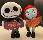 Disney Nightmare Before Christmas Jack Sally Door Greeter Set NWT