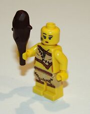 Lego Series 5 Cave Woman Girl Minifigure with Club - no hair