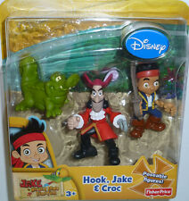 Jake and the NeverLand Pirates - Jake, Hook and Croc Pirate Pack, NEW!