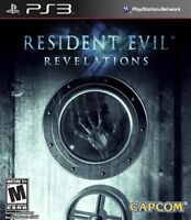 Resident Evil Revelations Sony PlayStation 3 2013 PS3 game disc in case capcom