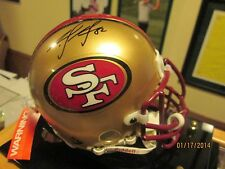 Mario Manningham Signed San Francisco 49ers Authentic Mini Helmet (Red Mask)