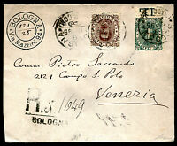1896 - Raccomandata resa franca con cent.40 Umberto n.45 + complementare