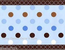 GEORGE BABY AVALON Blue Circles Brown Polka Dots Nursery Boy Wall paper Border