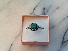 Natural Emerald 2 ct Artisan Fine 925 Sterling Silver Ring Size 8