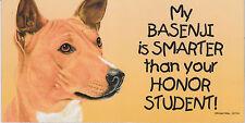 My Basenji is Smarter than your Honor Student car/fridge/locker Magnet 4X8