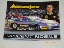 """2017 VINCENT NOBILE """"SIGNED"""" NAPA / MTN. VIEW TIRE CHEVY PRO STOCK NHRA POSTCARD"""