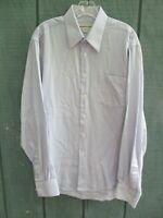 Pronto Uomo Men's Size M 100% Cotton Blue Checks Long Sleeve Button-Front Shirt
