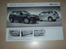 49007) Subaru Forester Sport & Styling Paket Prospekt 2009