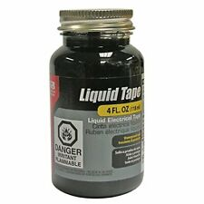 New listing Liquid Electrical Tape Easy-on Waterproof Indoor/Outdoor Use 4 Oz Jar, Black