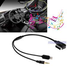Audi VW CAR AMI MDI MMI Mini 3.5mm AUX Cable Adaptor for iPhone 6 6Plus i5 i5s
