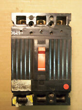 GE THED THED136015  15 amp 3 pole 600v Circuit Breaker BLACK FACE RED HANDLE