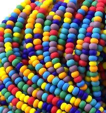 "Opaque Matte Color Bead Mix, 6/0 Czech Seed Beads, 4mm Preciosa Seed Beads 3/20"""