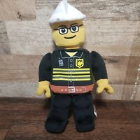 Plush Lego man Fireman Detachable Cap & Movable Arms New No Tags