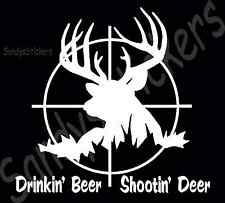 "Custom Deer Hunting Vinyl Decal Sticker - Many Colors - 6"" Tall"