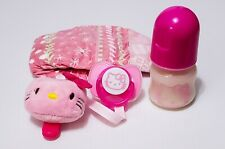 Hello Kitty Reborn Formula Bottle, Magnetic Pacifier, Plushie Keeper & Diaper!
