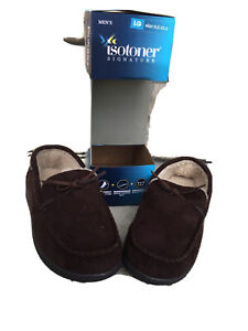 isotoner Signature Mens Slippers Brown Size Large (9.5 to 10.5)