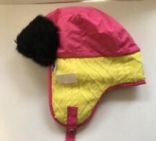 Pajar Canada Womens Trapper Aviator Hat NEW AUTHENTIC L XL Pink Black Yellow 41566c14a081