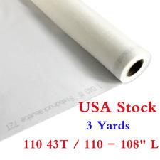 "USA Stock! 3 Yards Silk Screen Printing Mesh Fabric 110 43T / 110 - 108"" L"
