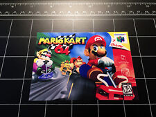 Mario Kart 64 N64 box art retro video game vinyl decal sticker nintendo 90s