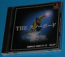 The Snowboard - Sony Playstation - PS1 PSX - JAP