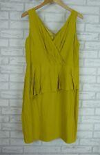 HOWARD SHOWERS Pencil Peplum Dress  Olive Green Sz 12?