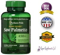 SAW PALMETTO 450 mg 200 Capsules Prostate Health Prevent Hair Loss Supplement