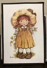 Lil Girl Fall Harvest 3D Paper Piecing PreMade Card Top Scrapbook Album By Becky