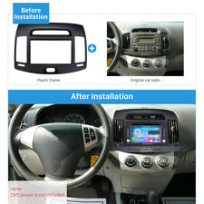 Car Radio Frame Fascia Dash Panel Kit for HYUNDAI ELANTRA Korean Black LHD 06-11