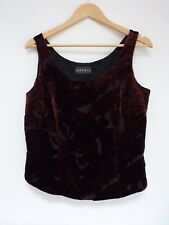 Ladies Lovely Alex & Co Black Mix Velvety Sleeveless Evening Top Size 12, Vgc