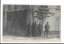 WW1 Printed Postcard British soldiers Poperinghe Belgium Bomb Damaged Street