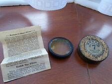 Vintage Kodak 7 Sky Filter   plus Tin Case and original instruction leaflet