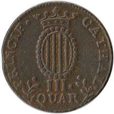 1813 Spain - Catalonia 3 Quartos Coin KM#115