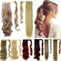 Real Long Clip In Pony Tail Hair Extension Wrap Clip On Ponytail As Human Hair J