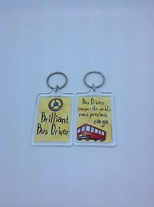 Brilliant Bus Driver Keyring - Xmas Gift Present Idea